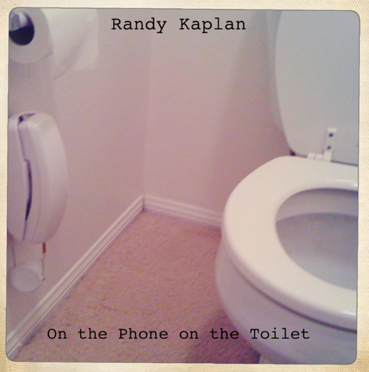 Randy nailing on the commode